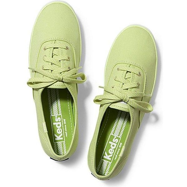 Keds CHAMPION MICRO DOT LACE. ($20) ❤ liked on Polyvore featuring shoes, sneakers, lime green, lime green shoes, lace shoes, multi colored shoes, flexible shoes and multi color shoes
