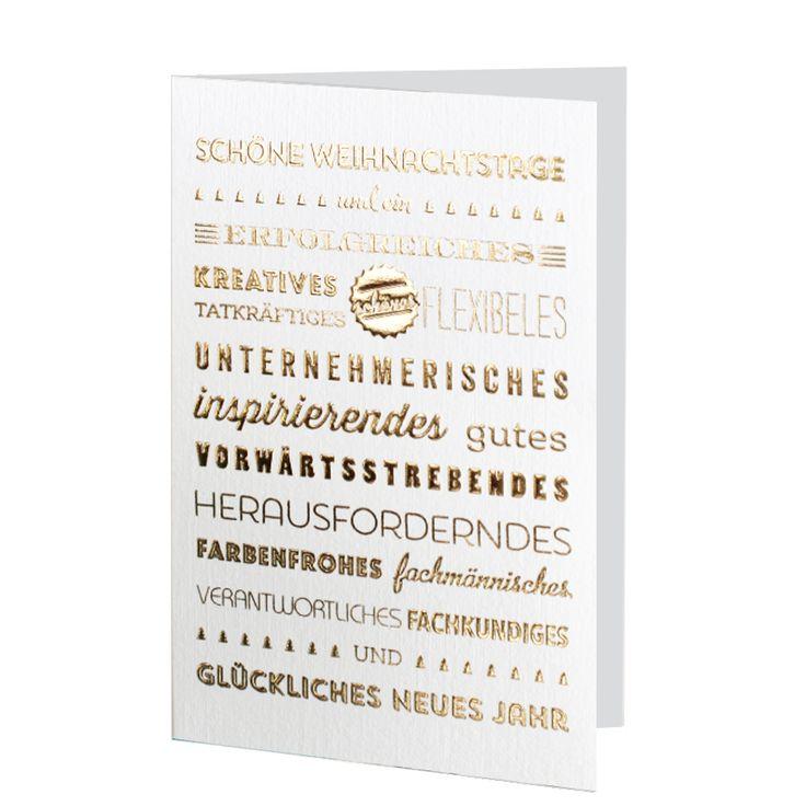Edle goldene Weihnachtskarten mit Glückwünschen online bestellen bei top-kartenlieferant.de in Aachen