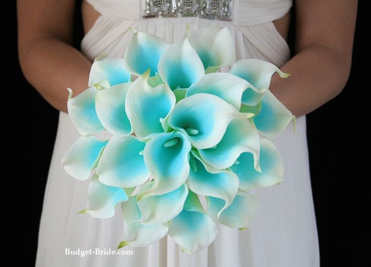 teal and white flowers for wedding bouquet - Google Search