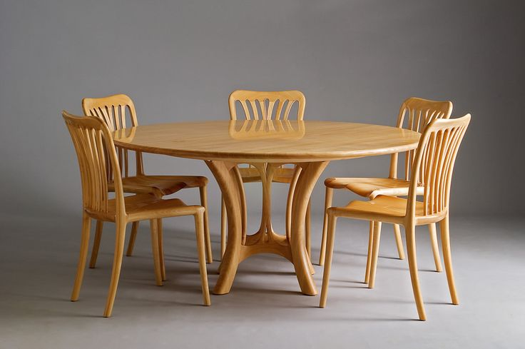 Tony Kenway. Table and Chairs Suite in Silver Ash