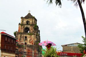 The Sinking Bell Tower in Laoag City, Philippines http://www.atlasobscura.com/places/the-sinking-bell-tower