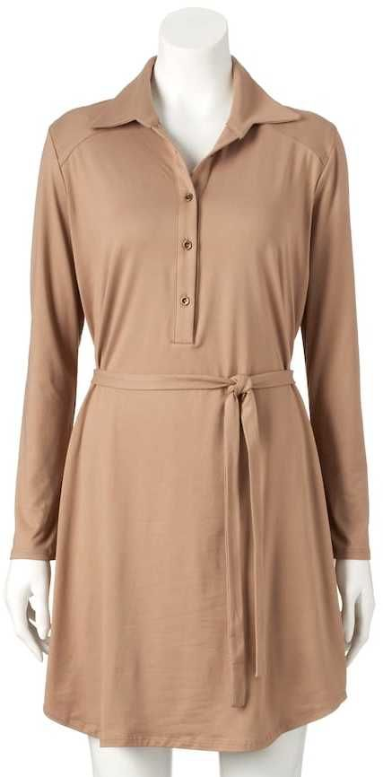 Double Click Women's Double Click Solid Shirtdress