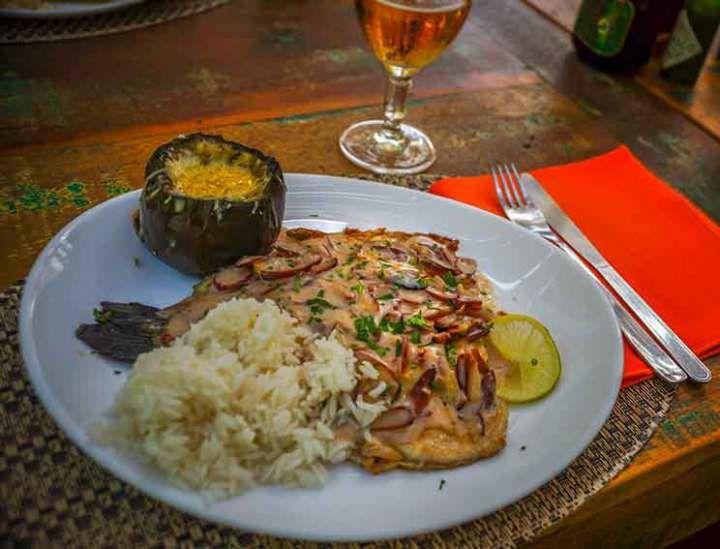 No Restaurante Arco Íris, a truta de pinhão é estrela do cardápio