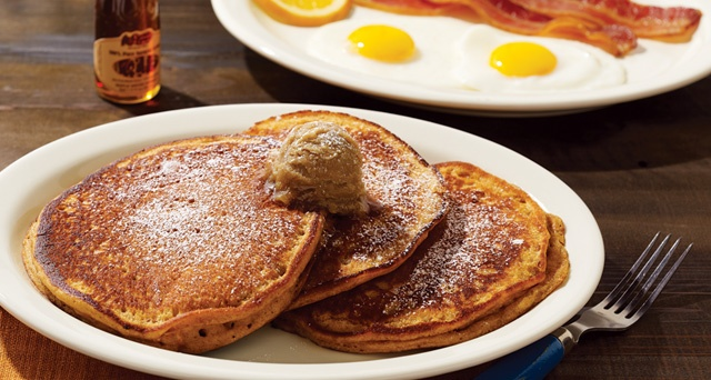 These sweet potato pancakes with cinnamon brown sugar butter from Cracker Barrel are out of this WORLD!!!