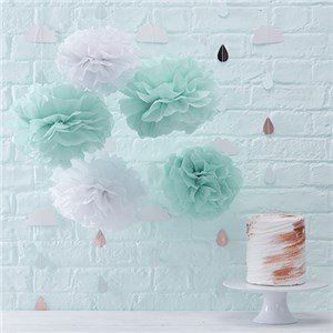 🎉 JUST ADDED - Itty Bitty Baby Shower Hello World Pom Pom Decorations 👶  VIEW HERE: