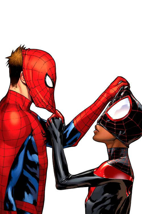 Love this visual for two superheroes revealing their true identities to each other.  Maybe Lisa and her new love interest?