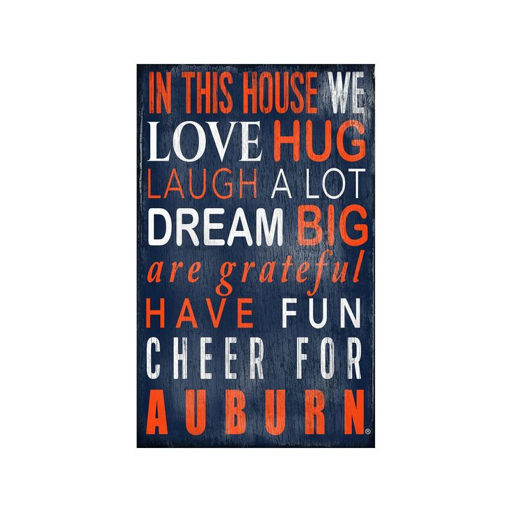Auburn Tigers In This House Wall Art, Multicolor