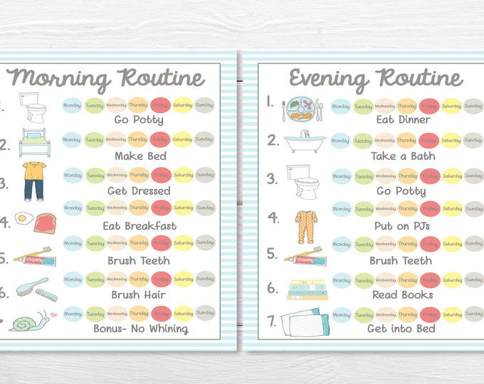 these adorable printable chore charts are perfect for your young child or toddler to get that