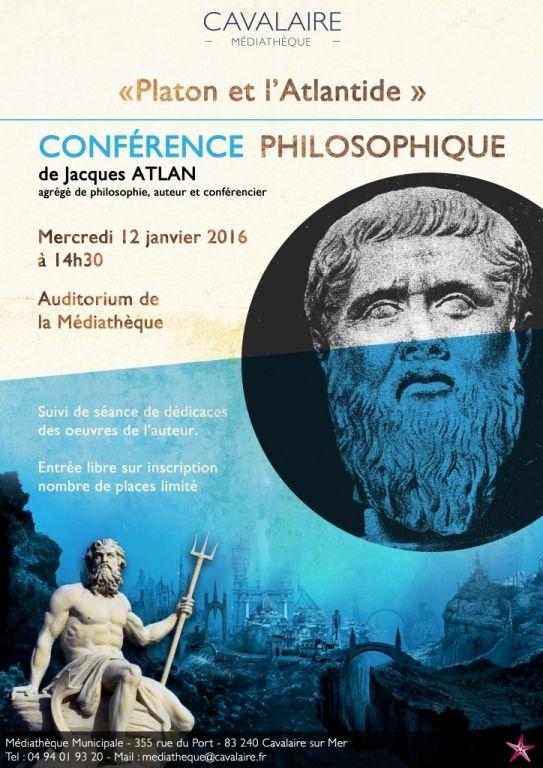 « Platon et l'Atlantide » CONFERENCE PHILOSOPHIQUE, Cavalaire-sur-Mer (83240), Var