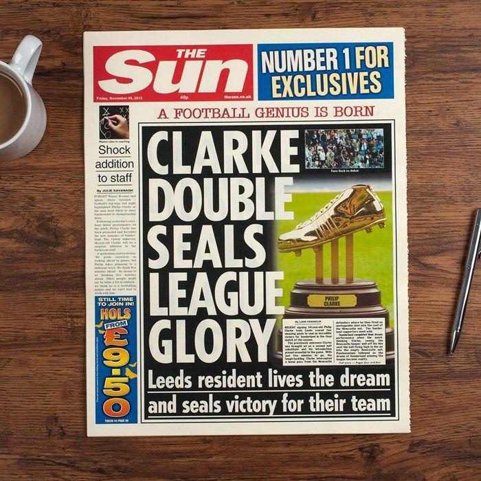The Sun Personalised Spoof Newspaper Article - Football Genius   GettingPersonal.co.uk