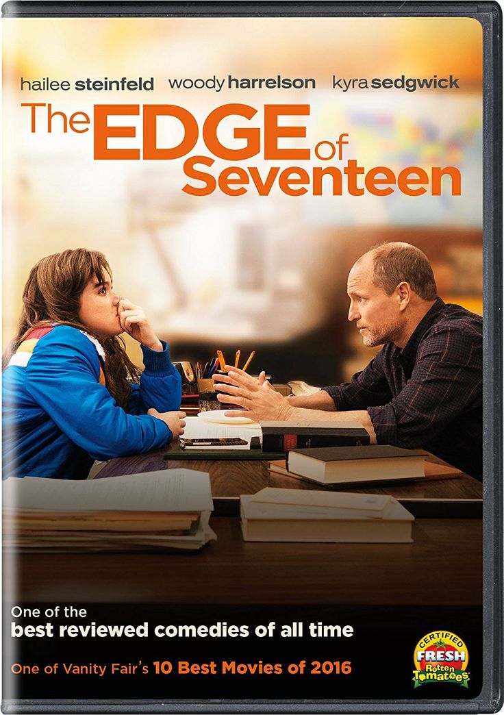 THE EDGE OF SEVENTEEN (DVD Release Date: 3/14/17) Starring: Hailee Steinfeld, Haley Lu Richardson, Blake Jenner -- High school life gets even more unbearable for Nadine when her best friend, Krista, starts dating her older brother.