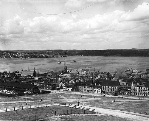 Halifax from Citadel, NS, 1901