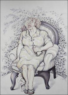 La dolorosa - bolígrafo - Lidia Kalibatas
