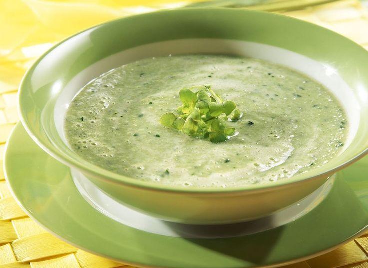 Kalte grüne Gurkensuppe