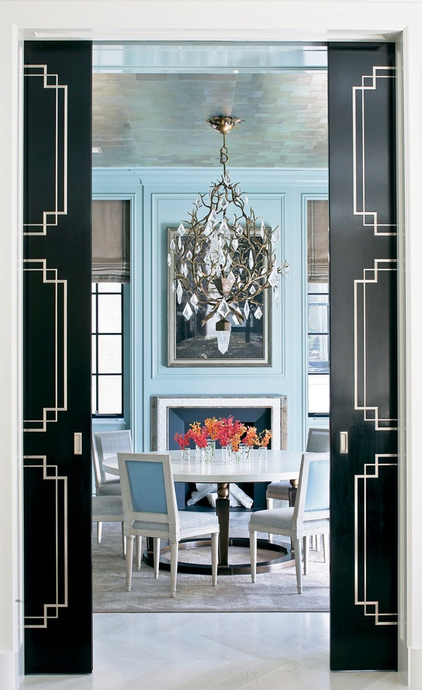 Love the doors Peter Pennoyer Architects Blue