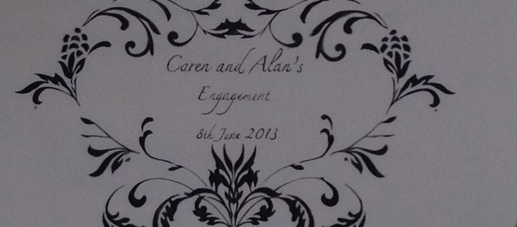Banner we made for Caren and Alan's Engagement party.