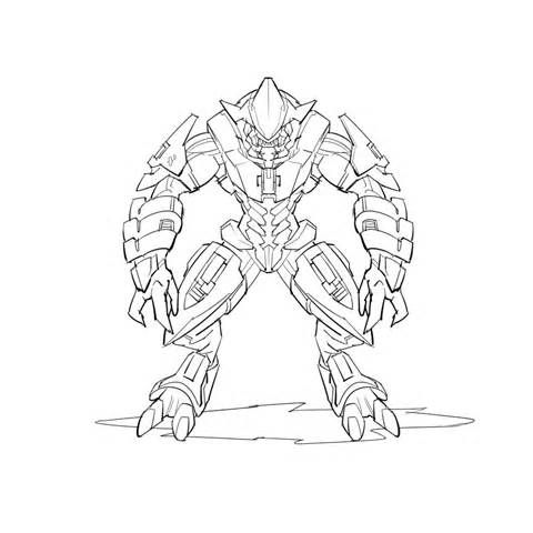 Free Printable Halo Coloring Pages For Kids Easy Hand