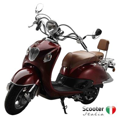 Grande retro scooter carbon rood