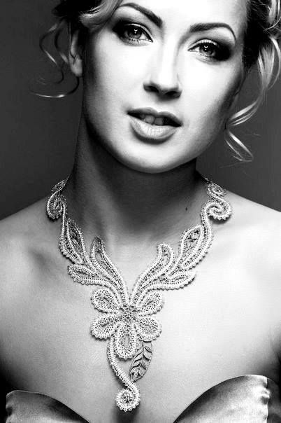 This necklace is made of Russian lace. #beauty #fashion #lace #Russian