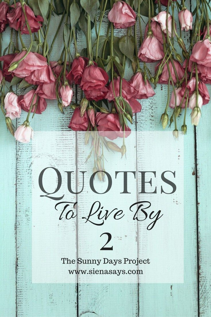 Positive Quotes : The Sunny Days Project: Quotes To Live By #2