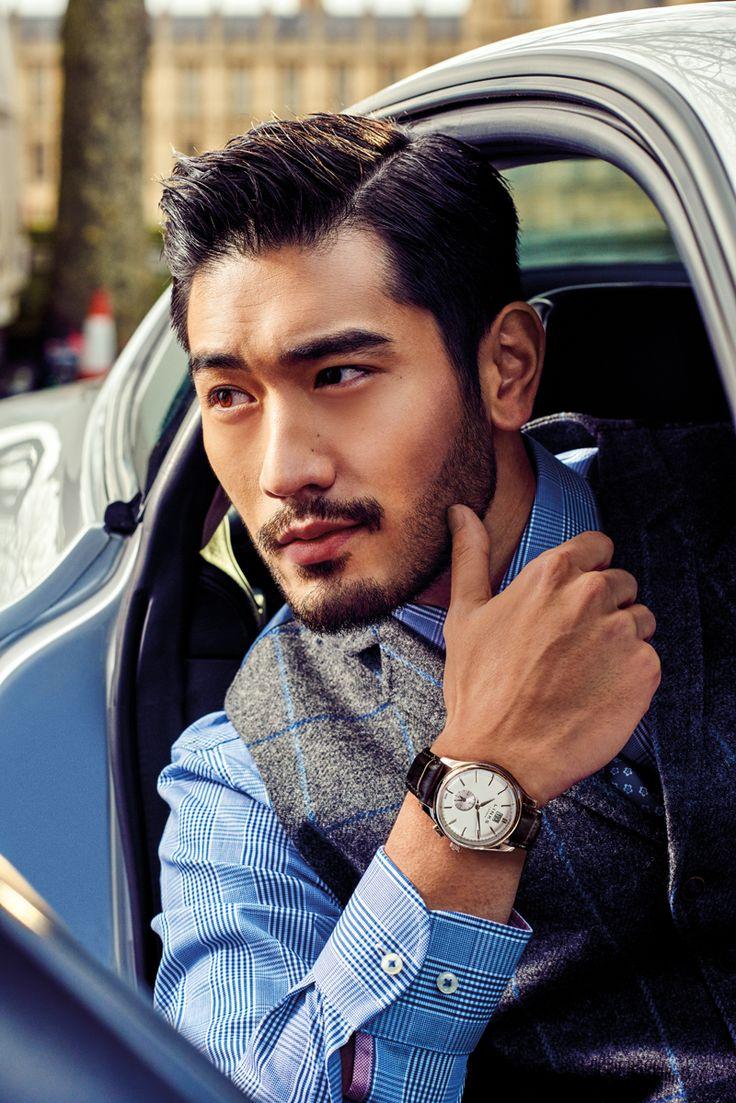 Venture mens black leather bracelet men bracelets links of london - Brand Ambassador Godfrey Gao Wearing Our Brown Leather Regent S Watch