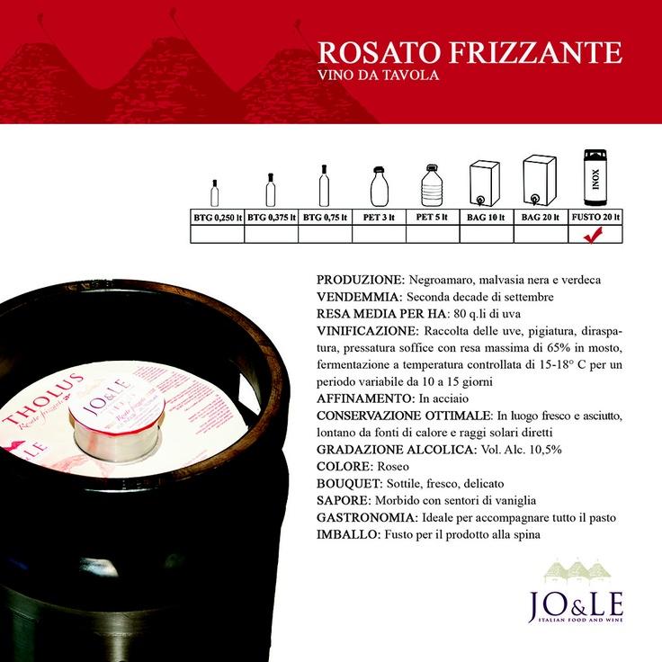 Rosato frizzante vino da tavola - caratteristiche.