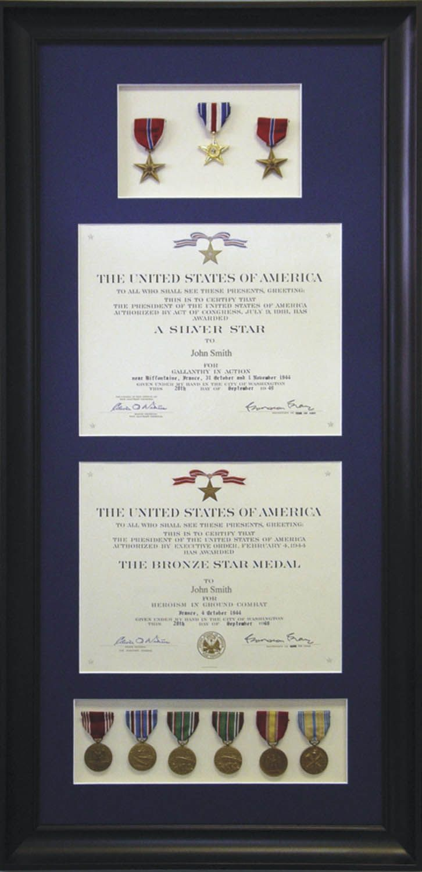 custom framed military medal display #military #usa #customframe ...