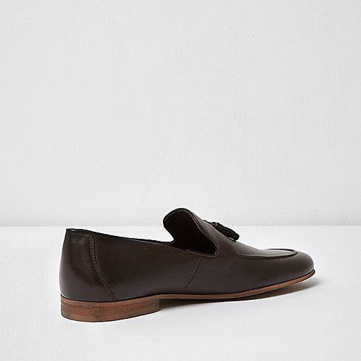 Dark brown leather tassel formal loafers - seasonal offers - sale - men