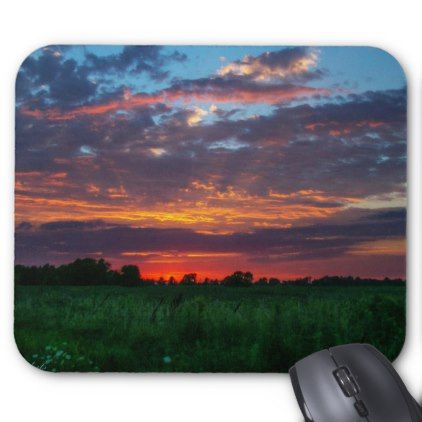 Corn fields adorned by sherbert skies Mouse pad - diy cyo customize create your own personalize
