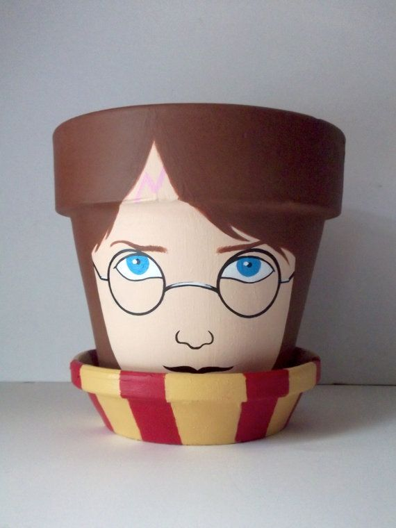 Harry Potter Painted Large Flower Pot Gift Set by GingerPots, $25.00