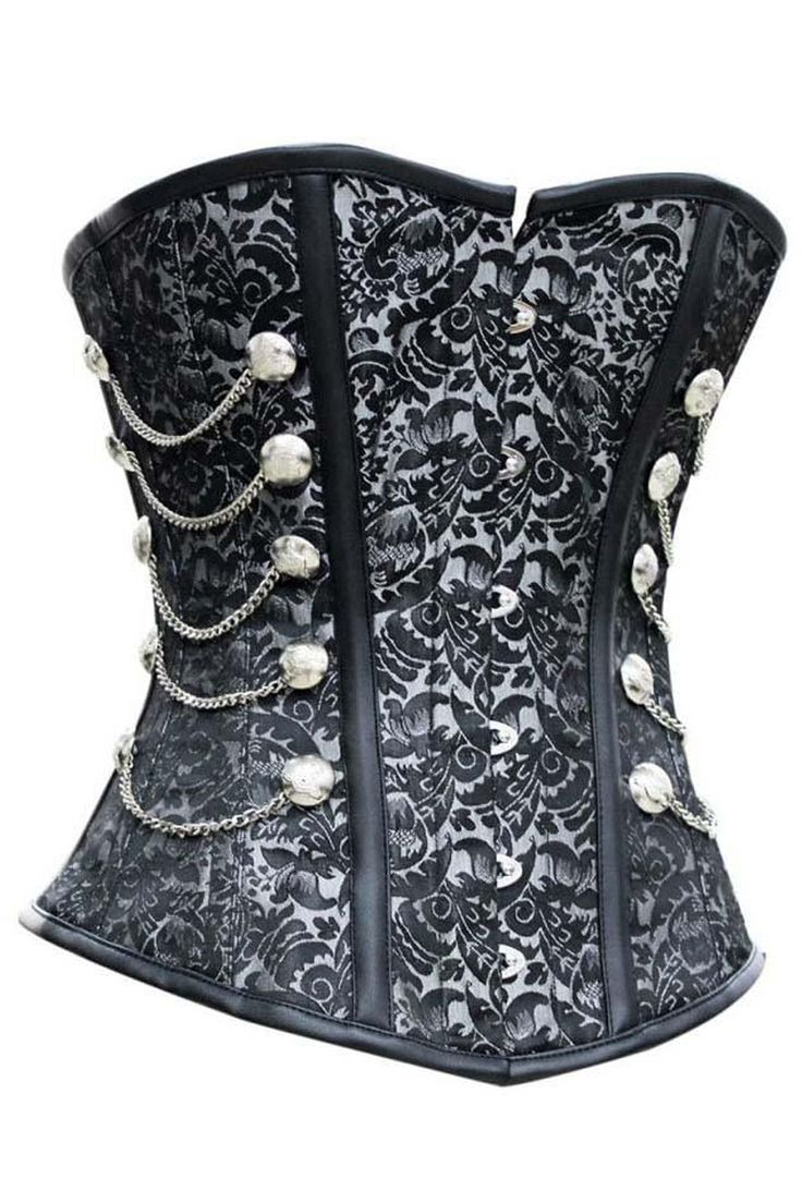 Show off your steampunk side with our Atomic Black and Grey Steel Boned Steam Overbust Corset.  https://atomicjaneclothing.com/products/atomic-black-and-grey-steel-boned-steam-overbust-corset