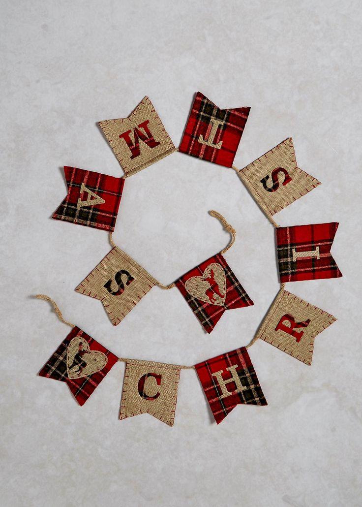 Tartan Christmas Bunting (145cm) - Matalan