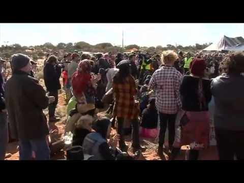 Protests at Roxby Downs mine