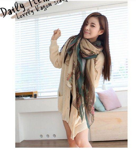 Лошадь шарф шелковый шарф женский весна мыс глушитель шарф с дизайн