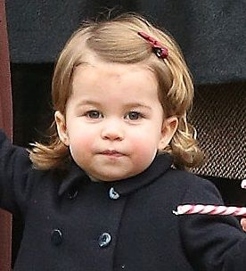 Princess Charlotte of Cambridge at the Christmas church service 2016