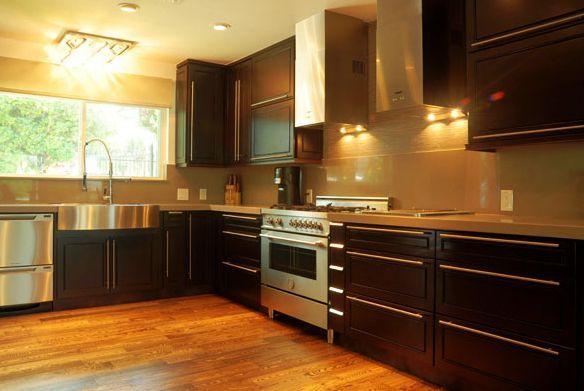 Modern RTA (Ready to Assemble) Kitchen Cabinets: Espresso Maple:  Modern RTA Kitchen Cabinets