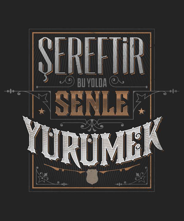 Beşiktaş Chants by Ozan Karakoç, via Behance