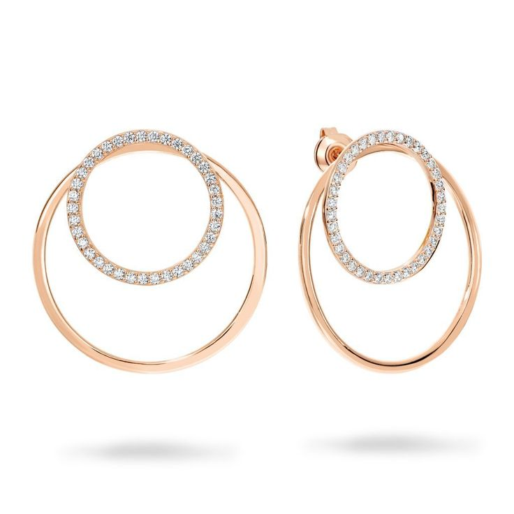 Pesavento Earrings for Women, Rose Gold, Silver, 2017, One Size