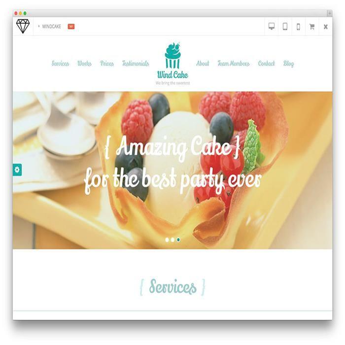 windcake-wordpress-restaurant-one-page-theme