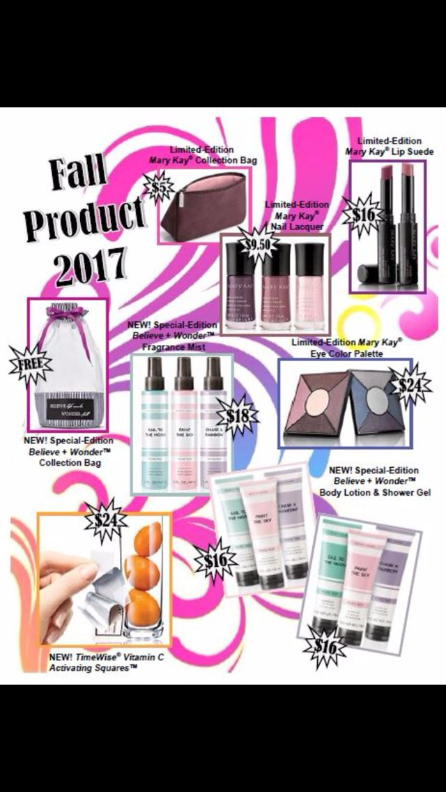 Coming fall 2017! Order at www.marykay.com/tachenback or 801-674-7323