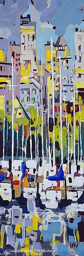 Rick Bond, 'Marina', 12'' x 36'' | Galerie d'art - Au P'tit Bonheur - Art Gallery