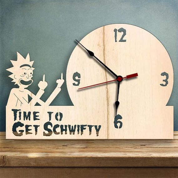 Rick and Morty Clock Personalized Clock Vinyl Record Clock