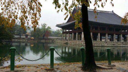 Lake inside Geongbokgung Palace
