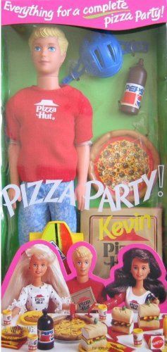 $104.95 Barbie - Pizza Party KEVIN Doll with Pizza Hut Pizza & More (1994) by Mattel, http://www.amazon.com/dp/B003N4CPJY/ref=cm_sw_r_pi_dp_bFE6rb1CVDWGK