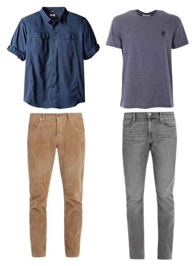 """""""Look 3 bbq"""" by angelaguirrem on Polyvore featuring Gucci, Columbia, Frame, Versace, men's fashion y menswear"""