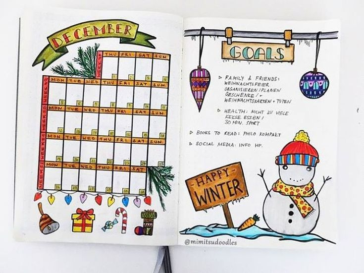11 Monthly Spread Ideas for your Bullet Journal - How to Bullet Journal