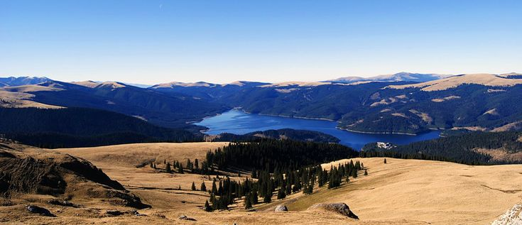 Vidra Lake - Oltenia region, ROMANIA.