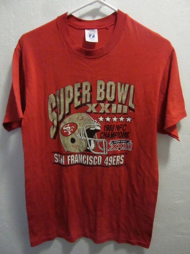 San Francisco 49ERS, 1988 NFC Championship, Super Bowl XXIII, Vintage 49ERS Shirt, Vintage 49ERS, Vintage NFL, by UNBROKENPAST on Etsy