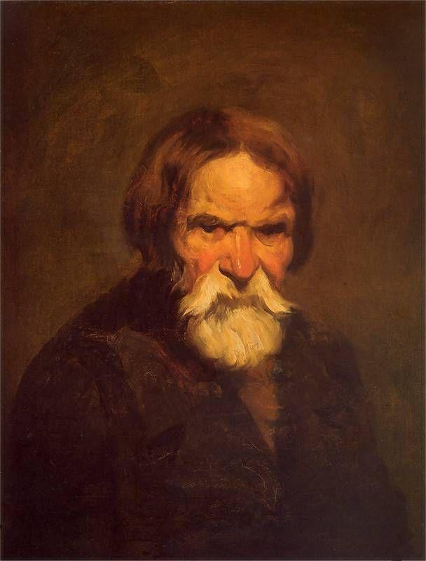 Piotr Michałowski - Studium brodatego chłopa, 1848