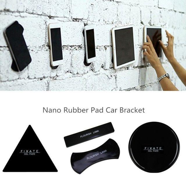 Flourish Lama Nano Rubber Sticky Pad Anti Slip Mat Gel Dash Car Mount Holder For Cell Phone Universal Sticker C Car Mount Car Phone Holder Cell Phone Car Mount
